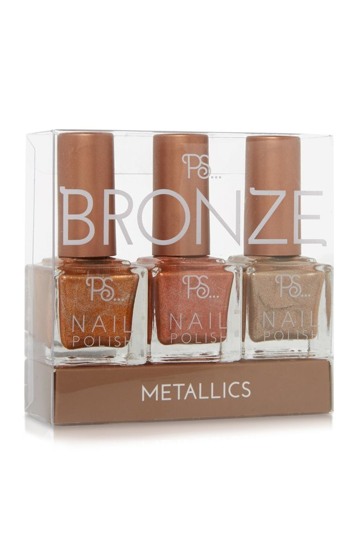 Primark - 3pk Metallic Nail Varnish