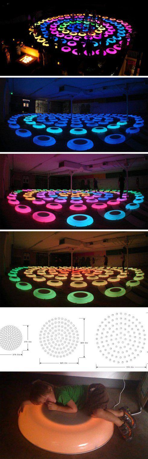 Jen Lewin, Interactive art installation, The Pool, Light art, cool art installation