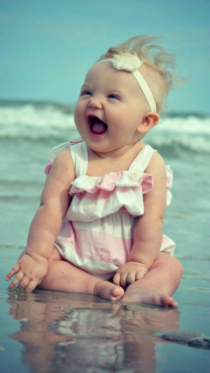Two amazing wonders in this world....babies and the ocean......