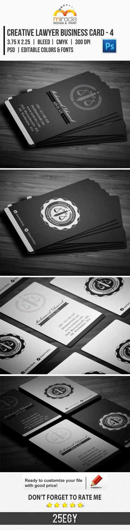 Creative Lawyer Business Card #4 by EgYpToS