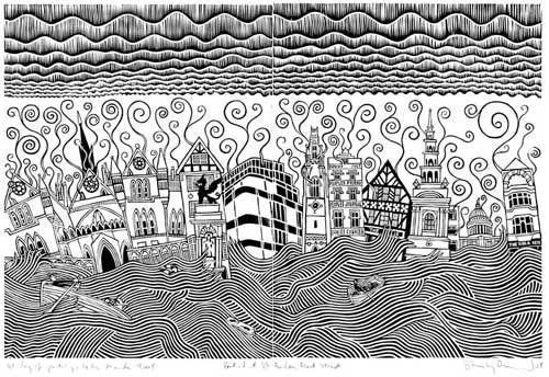 Stanley Donwood – Fleet Street Apocalypse