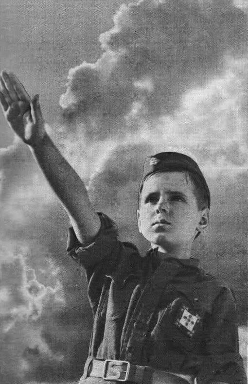 "1936 Propaganda Poster of The ""Mocidade Portuguesa"", a youth organization established by the authoritarian Estado Novo regime."