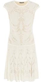Alexander McQueen skeleton weave fine knit dress from Net-a-Porter