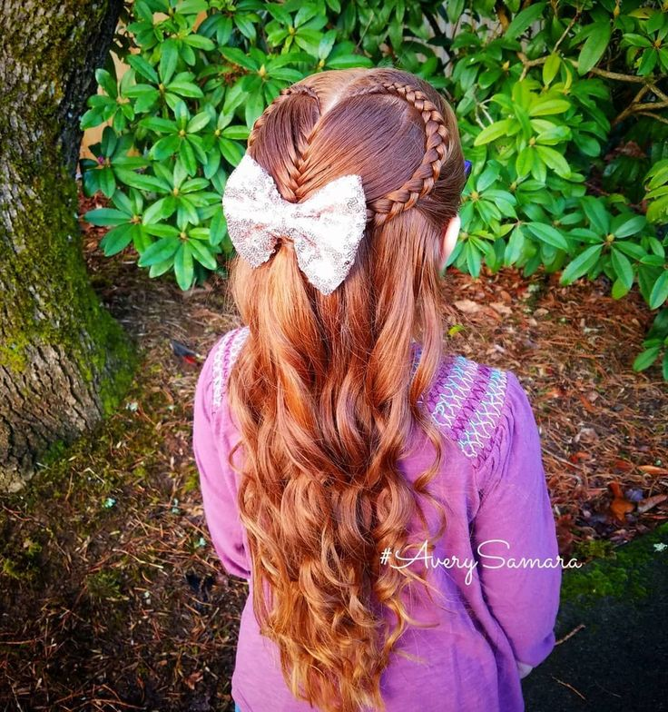Heart hairstyle. Heart braid. Heart lace…