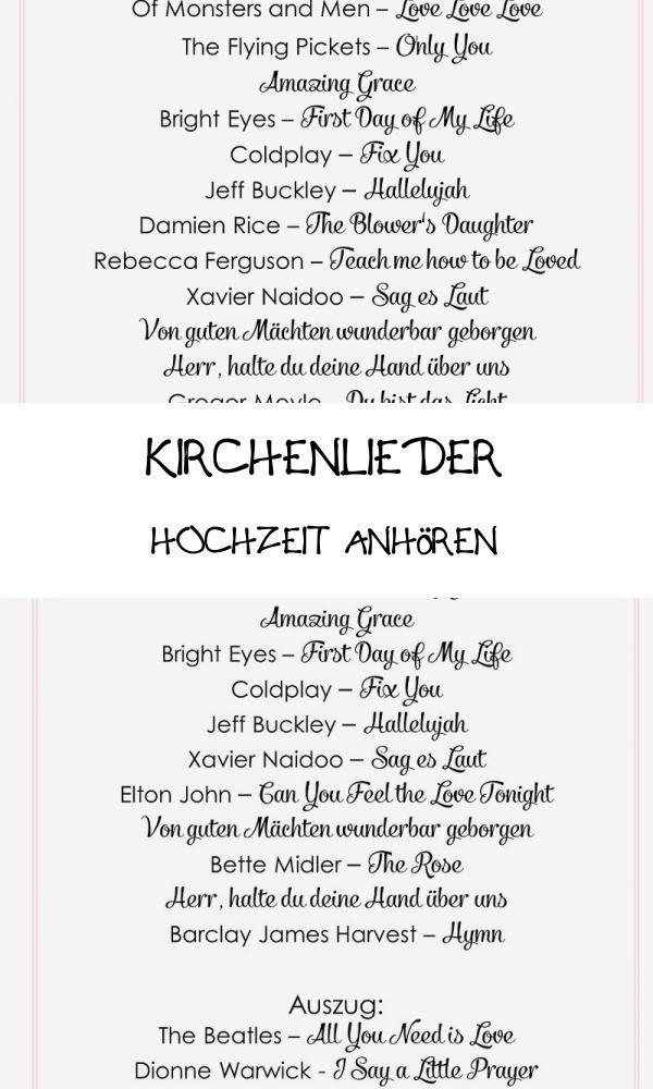 Best 20 Kirchenlieder Hochzeit Anhoren Di 2020