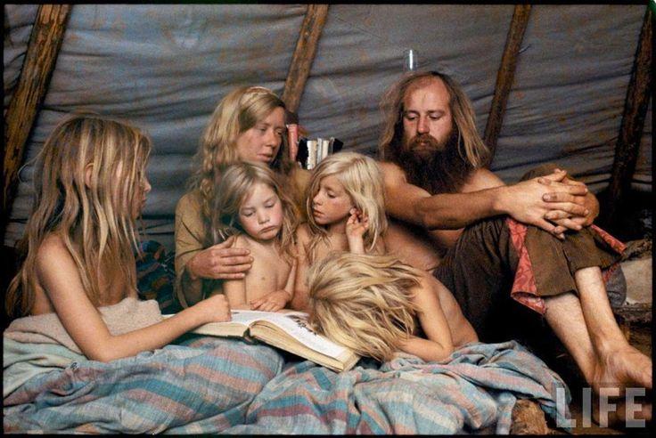 Редкие цветные фотографии общины американских хиппи 1970-х годов