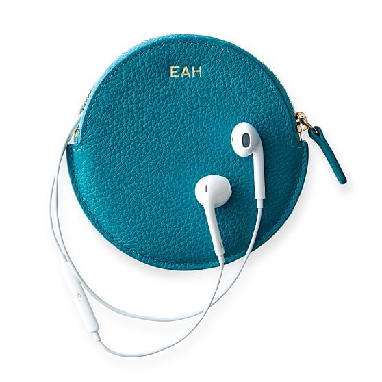Vivid Leather Earbud Case | Mark and Graham