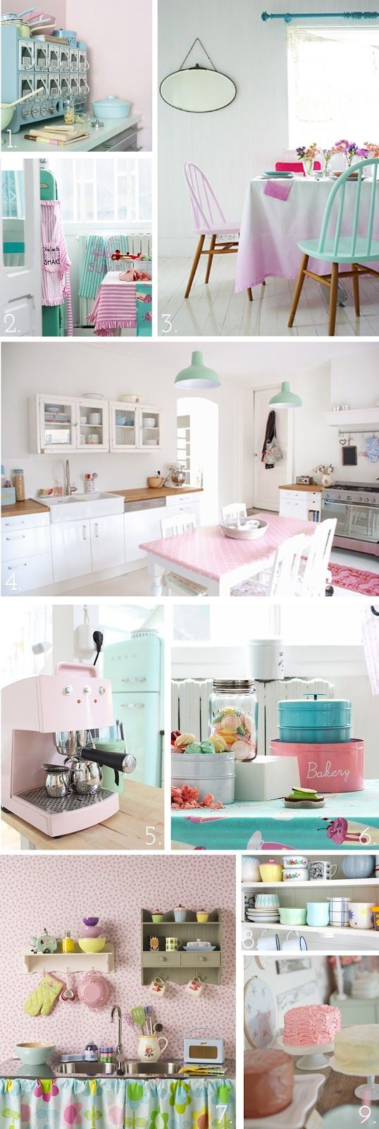 The Pink Doormat: Pretty Pastel Kitchen Inspiration