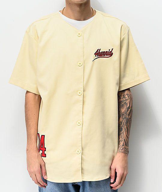 2eaa47533 2019 的 4Hunnid Bases Loaded Cream Jersey 主题 | 服装 | Mens tops ...