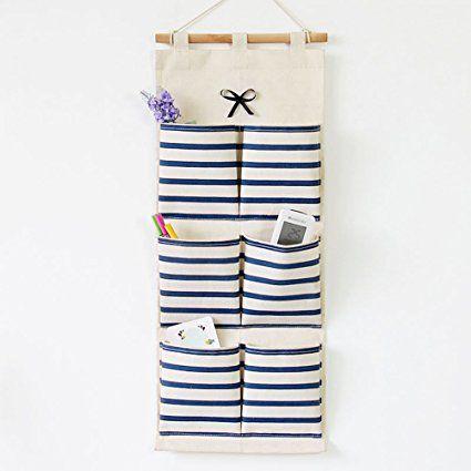 inwagui stoff h ngeorganizer taschen streifen h ngeaufbewahrung wand t r h nge aufbewahrung. Black Bedroom Furniture Sets. Home Design Ideas