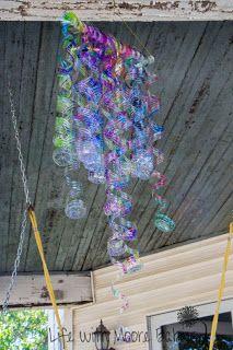 """glass"" sculpture from plastic bottles"