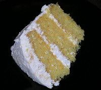 This cake is such a light cake.