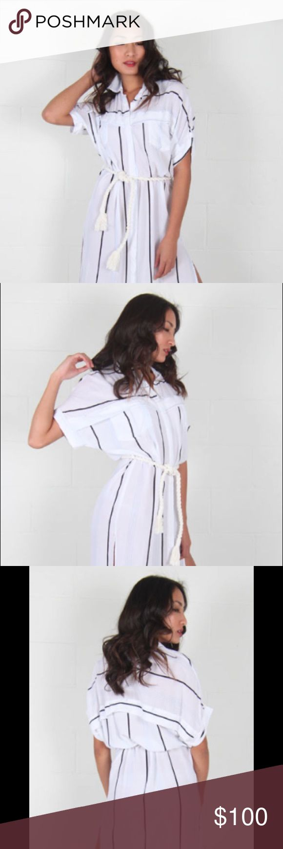 Faithfull the Brand Gigi dress XS Worn once, near perfect condition Faithfull the Brand Gigi dress. Hi low style, super comfortable. Loose and flowy. Great beach coverup. Comes with rope belt. Faithfull the Brand Dresses High Low