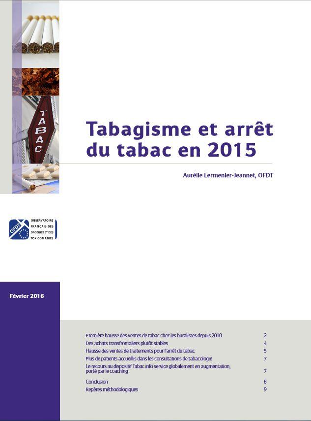 Bilan 2015 du tableau de bord mensuel #tabac - OFDT