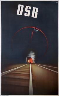 Railroad Poster: DSB - 120 , Artist: Aage Rasmussen