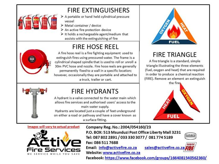 Active Fire Services: description of fire equipment