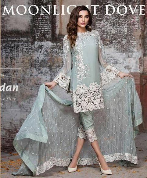 dc15735413 Imrozia Chiffon Suit, Ladies Designer Replica, Online Clothes Shopping.  Imrozia Chiffon Collection. Online Shopping Pakistan. Ladies Replica.