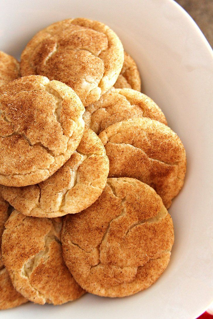 Gooey snickerdoodle cookies inspired by Disneyland