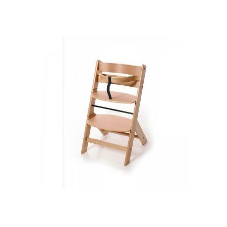 SCAUNEL DE MASA JILL OSANN din lemn masiv de fag. Dispune de doua pozitii de ajustare a sezutului si de doua pozitii de ajustare a suportului de picioruse, facandu-l astfel un scaun deosebit de versatil pentru cei mici. Include in pachet bara de protectie si hamul pentru picioare.