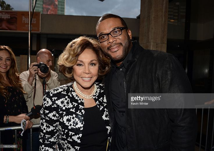 Actress Diahann Carroll (L) and producer Tyler Perry arrive at the premiere of 'Peeples' presented by Lionsgate Film and Tyler Perry at ArcLight Hollywood on May 8, 2013 in Hollywood, California.