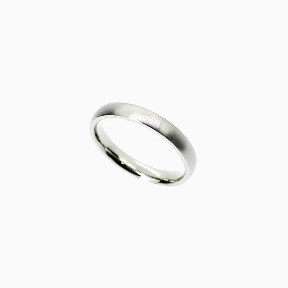 Classic Matte Wedding Band in White Gold, 3.00mm