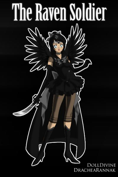 The raven soldier is a sailor senshi that works behind the scenes making sure Mamoru saves Usagi when needed. by BFP ~ Anime Dress Up