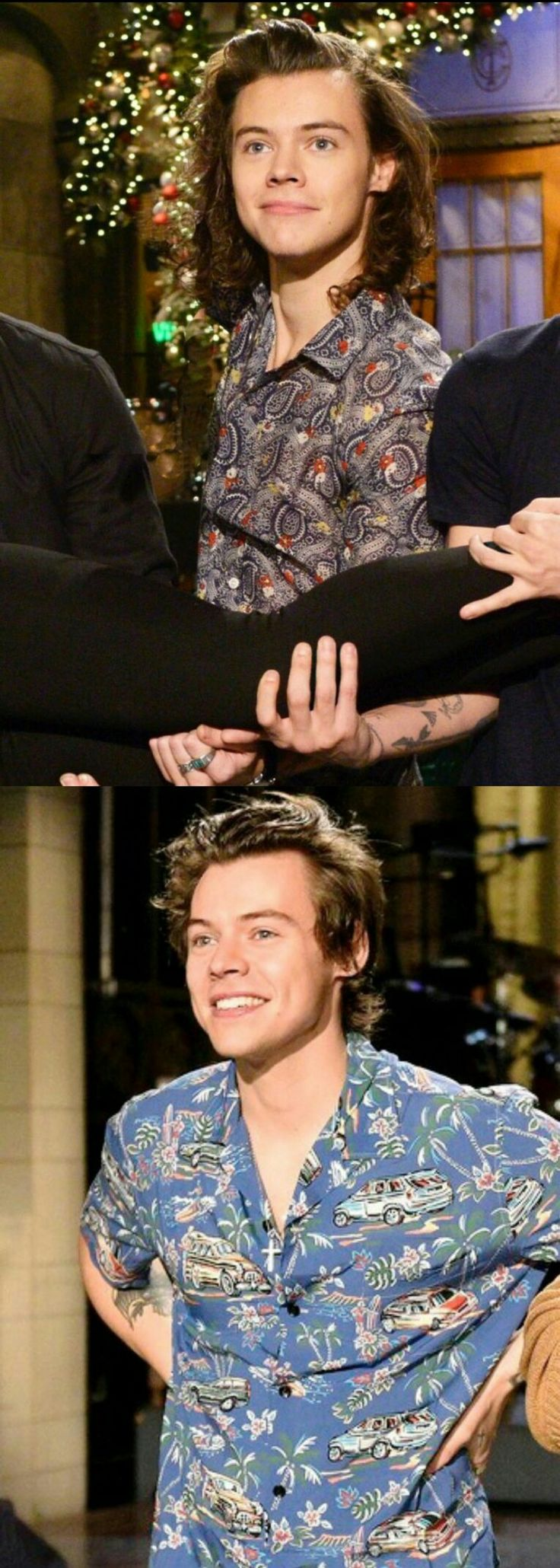 Harry at SNL . Then and now