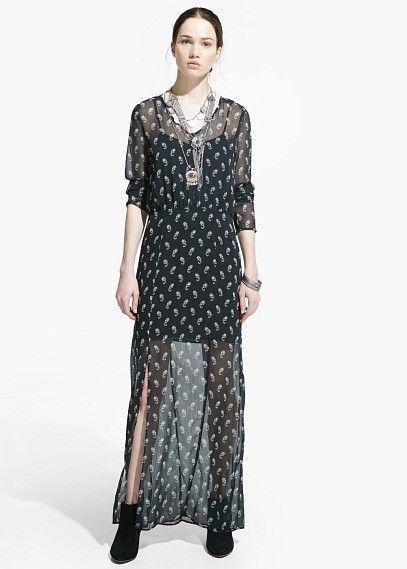 Paisley chiffon dress