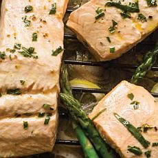 Steamed Salmon with Green Asparagus & Tarragon by Curtis Stone
