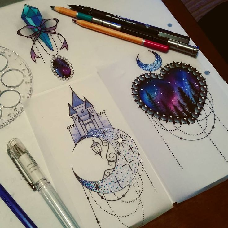 A few little available ones  If youd like one please see me at The Projects Tattoo or email me sophie.adamson@hotmail.co.uk  Please do not copy. #tattoo #designs #hearttattoo #galaxytattoo #moontattoo #castle #lantern #neotraditional #uktattoo...