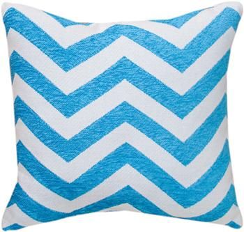 """TLKTRQ 18"""" x 18"""" Kiki Collection Turquoise Tapestry Pillow                                                        contemporary"""