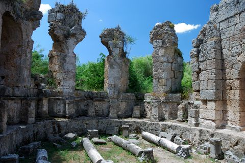 Greek and Roman Ruins at Perge, Turkey