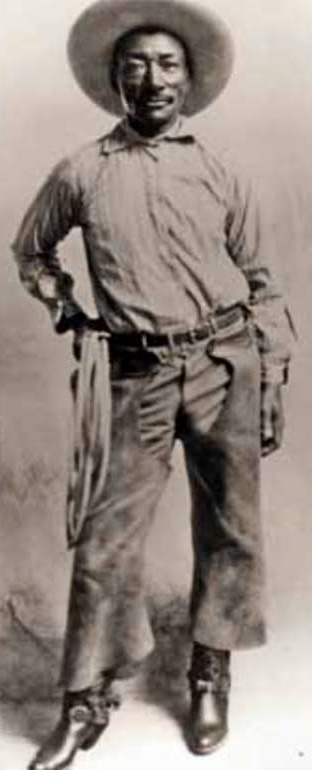 Bill Pickett, cowboy & rodeo performer. He is the 1st African-American to be inducted into the Rodeo Hall of Fame, the 1st African-American cowboy star, & the inventor of the technique of bulldogging, the skill of grabbing cattle by the horns & wrestling them to the ground. He toured around the world and starred in films The-Bull-Dogger and The Crimson Skull, but due to racism, he was not allowed in many rodeos; he often was forced to claim he was of Comanche heritage in order to perform…