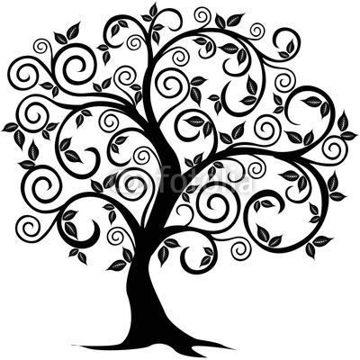 Tree Drawings With Roots | Vector tree by Vanessa, Royalty free stock photos #12400034 on Fotolia ...