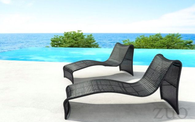 Beach Outdoor Chaise Lounge Chair Zuo Modern Patio Furniture Zuomodern