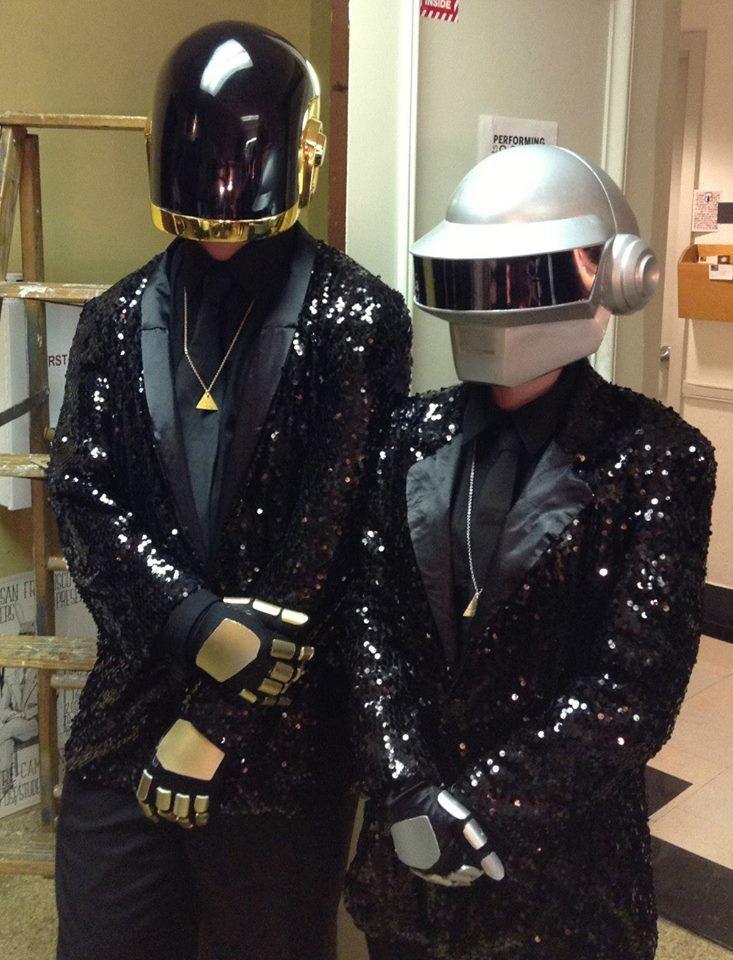 Halloween 2013. My boyfriend's and my Daft Punk costumes.