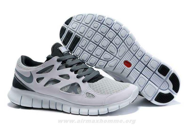 Femmes 443815-100 Nike Free Run 2 Blanc Cool Gris Wolf Gris | Air Max Homme | Pinterest | Nike Free Runs, Free Runs and Nike Free