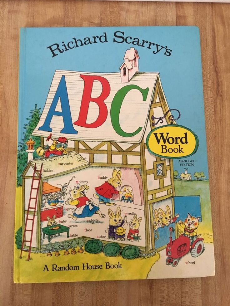 Richard Scarry's ABC Word Book Hardcover 1971