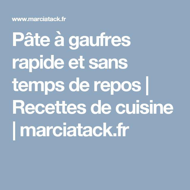 Pâte à gaufres rapide et sans temps de repos | Recettes de cuisine | marciatack.fr