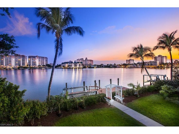 336 Oak Ave, Naples, FL 34108 | Wide bay views, tropical sunsets every night, and the Ritz Carlton in the distance.  Paradise found in Conners Vanderbilt Beach