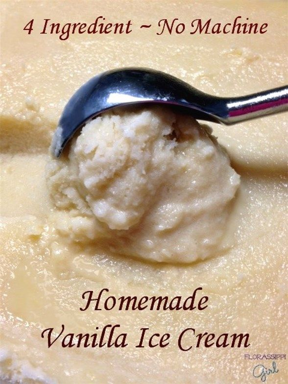 Homemade Vanilla Ice Cream - A rich and delicious ice cream made with ...