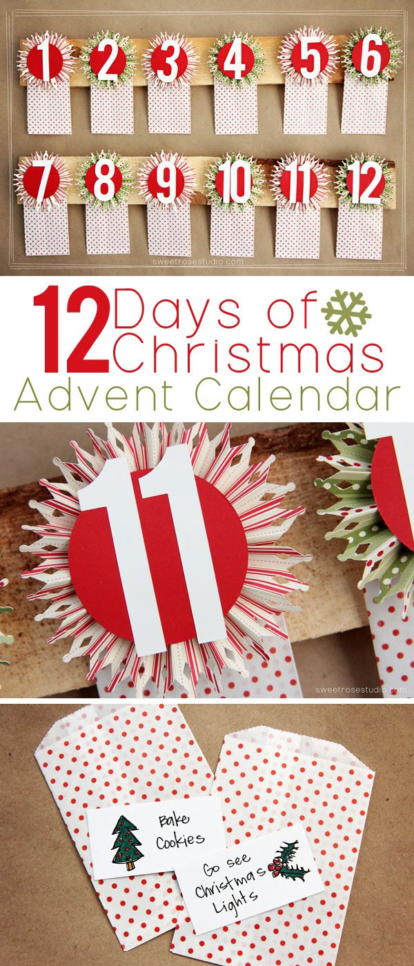 12 Days Of Christmas Advent Calendar Sweet Rose Studio Christmas Advent Calendar Christmas Advent 12 Days Of Christmas