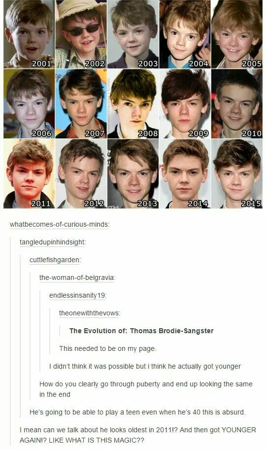 Definitely magic! >>>>> Thomas Brodie-Sangster the man who ages backwards :-)