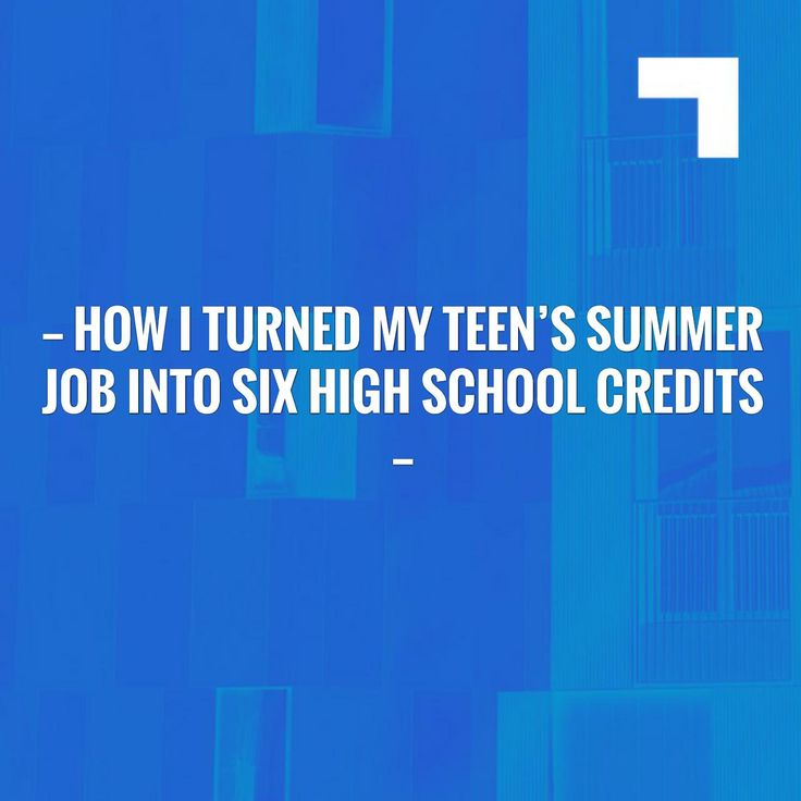 Give this a read 👉 How I Turned My Teen's Summer Job Into Six High School Credits http://www.200fingersandtoes.com/turned-teens-summer-job-high-school-credits/?utm_campaign=crowdfire&utm_content=crowdfire&utm_medium=social&utm_source=pinterest