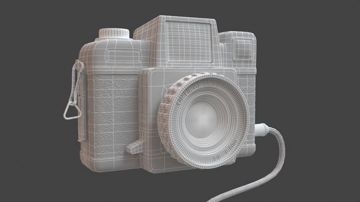 BabyCam - a greyscale render before textures #3D #3DSMax