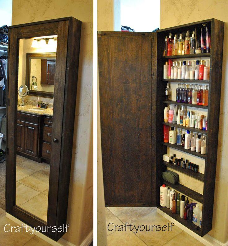 DIY Mirror Door Bathroom Cabinet