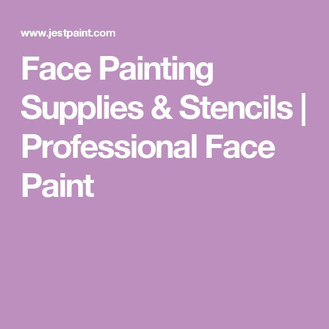 Face Painting Supplies & Stencils   Professional Face Paint
