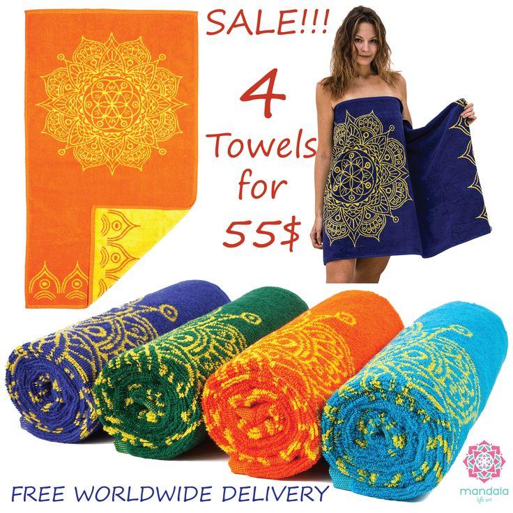 """Boho bath towels set on SALE !!!  100% Cotton Woven 130x70 cm , 52x26"""""""