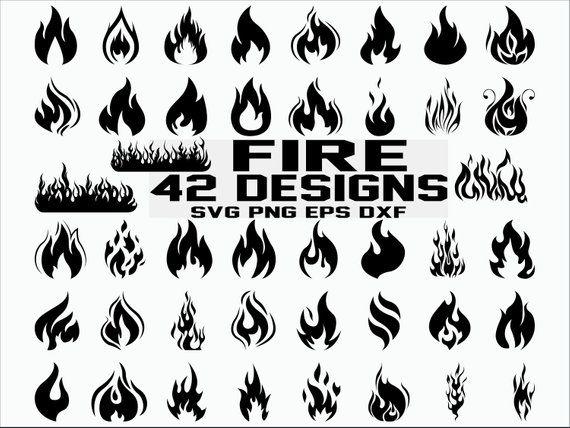 Flame svg. Fire clipart flames cricut