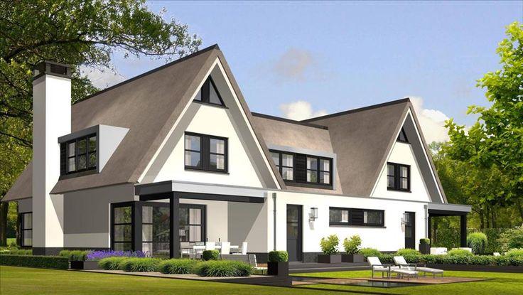 Achtergevel halfvrijstaande Woning van 192 M2. Zie ook: http://www.buildingdesign.nl/wonen/11-exclusieve-eigentijdse-villas-aan-de-bosstraat-in-soest